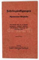 Jahrbegünstigungen für Alpenvereins-Mitglieder. Wien. cca 1910. Deutschen und Österreichischen Alpen Vereins. 36p.