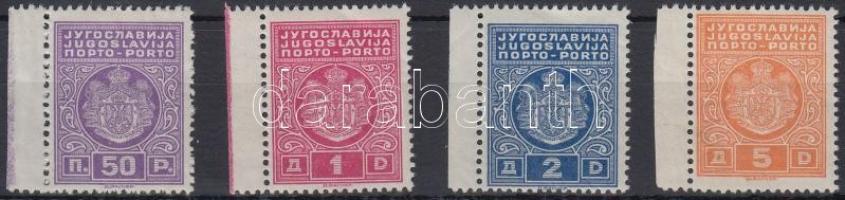 Postage due set without closing value, Portó ívszéli sor záróérték nélkül