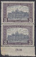 1916 Parlament 3K pár eltolódott középrésszel