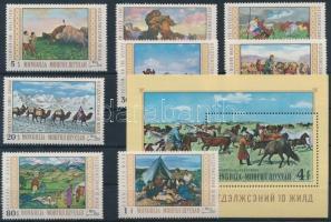 1969 Festmények sor Mi 557-564 + blokk Mi 18