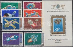 1971 Űrutazás sor Mi 618-625 + blokk Mi 24