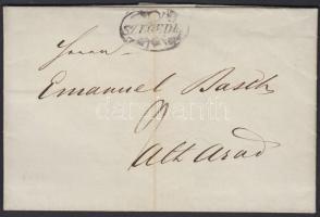 1846 Portós levél / Unpaid cover SZEGEDIN - Alt Arad