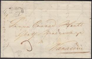 1850 Portós levél / Unpaid cover Szala=/Egerszegh - kék/blue WARASDIN