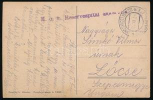 1918 Tábori posta képeslap Albániából Lőcsére / Field post postcard K.u.k. Reservespital (Schkodra) + EP SCUTARI (SCHKODRA)