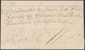 1762 Portós levél Aradról / Unpaid cover from Arad