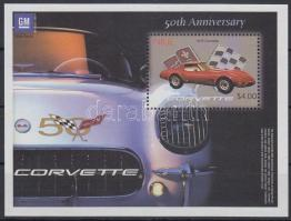 2003 Corvette kisív Mi 1003-1006 + blokk Mi 136