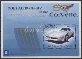 Corvette mini sheet + block, Corvette kisív + blokk