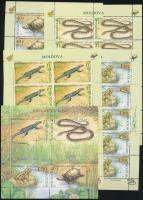 2005 Veszélyeztetett hüllők és kétéltűek kisív sor Mi: 524-527 + blokk 35