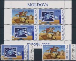 2008 Europa CEPT: Levelezés ívszéli sor Mi: 611-612 + bélyegfüzetlap H-Blatt 9
