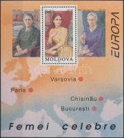 1996 Híres nők blokk Mi: 9