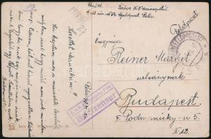 "Field postcard ""K.u.K. Marinespital Pola / Briefzensur"" + ""MFP POLA"", Tábori posta képeslap ""K.u.K. Marinespital Pola / Briefzensur"" + ""MFP POLA"""