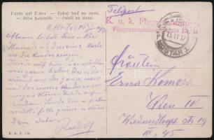 1917 Tábori posta képeslap / Field postcard K.u.k. Fliegerersatztruppe Fliegerersatzkompagnie Nr. 11.