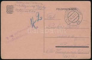 """Field card """"K.u.k. Fliegerkompagnie Nr. 5."""", Tábori posta levelezőlap """"K.u.k. Fliegerkompagnie Nr. 5."""""""
