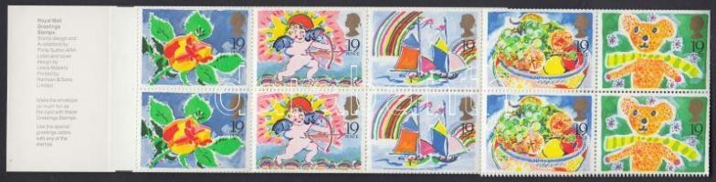 1989 Üdvözlőbélyeg bélyegfüzet MH 84 (Mi 1189-1193)