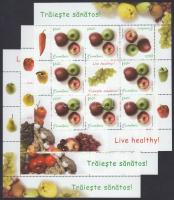 Healthy eating set 2 values + mini sheet set, Egészséges táplálkozás sor 2 értéke + kisívsor