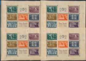 1938 18 db jó minőségű Szent István blokk (126.000) / 18 x Mi. block 4, good quality