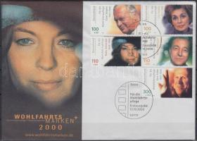 2000 Német filmszínészek, sor Mi 2143-2147 FDC-n