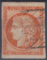 1849 Mi 5 a (papírelvékonyodás / thin paper) (Mi EUR 550.-)