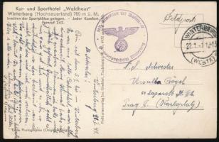 1941 Waffen-SS tábori lap / Field postcard
