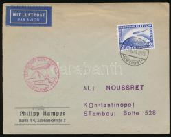 1929 Zeppelin Orientfahrt levél Isztambulba / Cover to Istambul