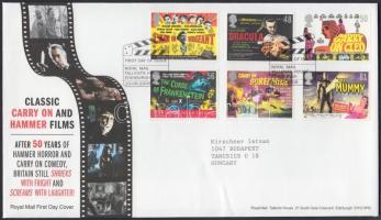 2008 Filmplakátok sor Mi 2652-2657 FDC-n
