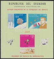 1966 Francia-amerikai együttműködés az űrkutatásban blokk Mi 30