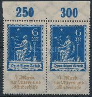 1922 Mi 233 IV ívszéli pár / margin pair