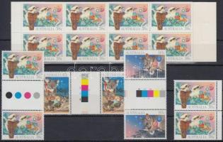Christmas set sheet centered pairs + stamp-booklet, Karácsony sor ívközéprészes párokban párban + bélyegfüzet