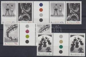 Centenary of photography set sheet-centered pairs, 100 éves a fotográfia sor ívközéprészes párokban