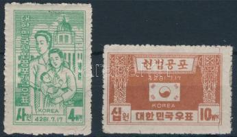 1948 Új alkotmány sor Mi 37-38