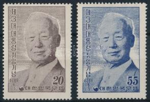 1956 Syngman Rhee elnök sor Mi 217-218