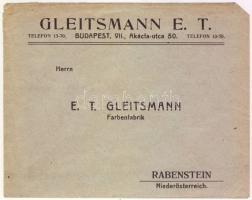 1936 Budavár 10f és 20f díjkieglszítéssel elsőnapi levélen Ausztriába