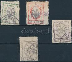 Declaration of Independence 4 stamps from set, Függetlenségi nyilatkozat sor 4 értéke