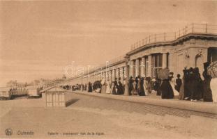 Ostend, Ostende, Galerie promenoir vue de la digue / promenade to the dike