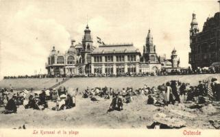 Ostend, Ostende, Le Kursaal et la plage / cure hall with the beach