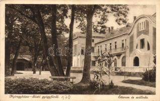 Nyíregyháza-Sóstó gyógyfürdő, Étterem és szálloda