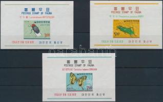 1966 Állatok (III.) blokk sor Mi 233-235