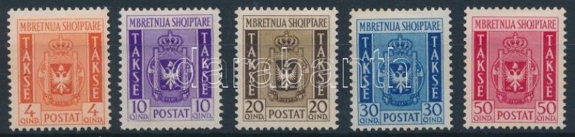 1940 Címerek portó sor Mi 35-39