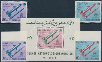 1962 Meteorológia világnapja fogazott és vágott sor Mi 732-733 A-B + blokk Mi 38