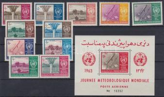 1962 Meteorológia világnapja sor Mi 764-774 A + 769-770 B + blokk Mi 42 A