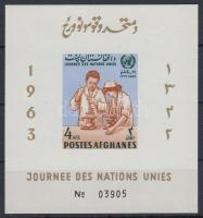 1964 ENSZ vágott blokk Mi 53 B