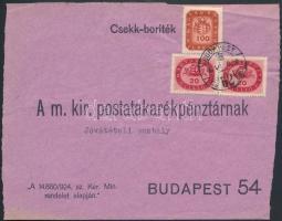 1946 (18. díjszabás) 2. súlykategóriába tartózó Nyomtatvány Millíós 2x20mP + Milpengős 100mP bérmentesítéssel (boríték szét nyitva)