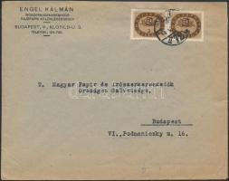 1946 (15. díjszabás) Helyi levél Milliós 3mP párral bérmentesítve