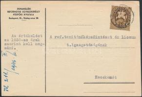 1946 (11. díjszabás) Nyomtatvány Lovasfutár 20eP túlbérmentesítéssel