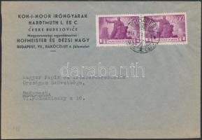 1946 (7. díjszabás) Helyi céges levél Újjáépítés 2x1000P bérmentesítéssel