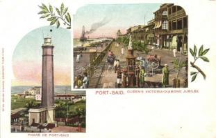 Port Said, Queen Victorias Diamond Jubilee, Art Nouveau; Carlo Mieli No. 28