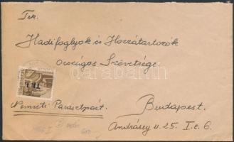 1946 (6. díjszabás) Távolsági levél BetűsI. Tl.I./10f bérmentesítéssel