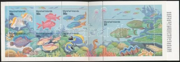 1993 Halak bélyegfüzet Mi 459-465
