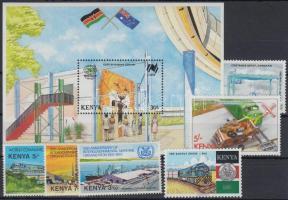 1978-1988 Közlekedés 7 klf bélyeg közte sor, blokk, 1978-1988 Transport 7 diff stamps with set, block