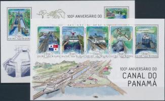 Panama Channel Centanray minisheet + block, 100 éves a Panama Csatorna kisív + blokk